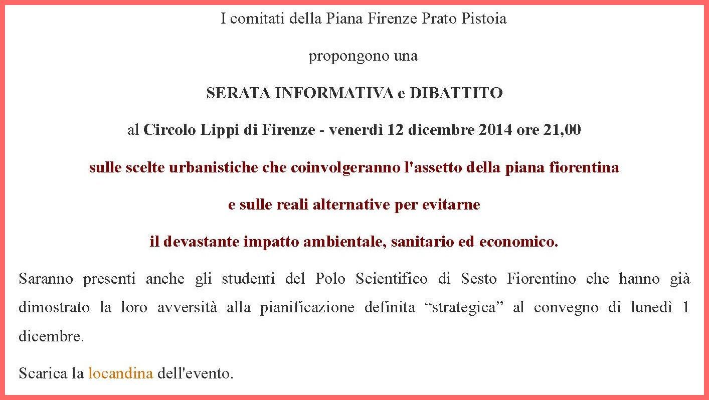 I comitati della Piana Firenze Prato Pistoia